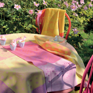 パステルカラーが可愛いガルニエ・ティエボーのキッチンクロス ダリアシトラス
