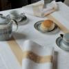 ガルニエ・ティエボーテーブルランナー アンペラトリスゴールドでアフタヌーンティー