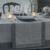 ガルニエ・ティエボーテーブルランナー チュイルリーシルバーのコーディネート