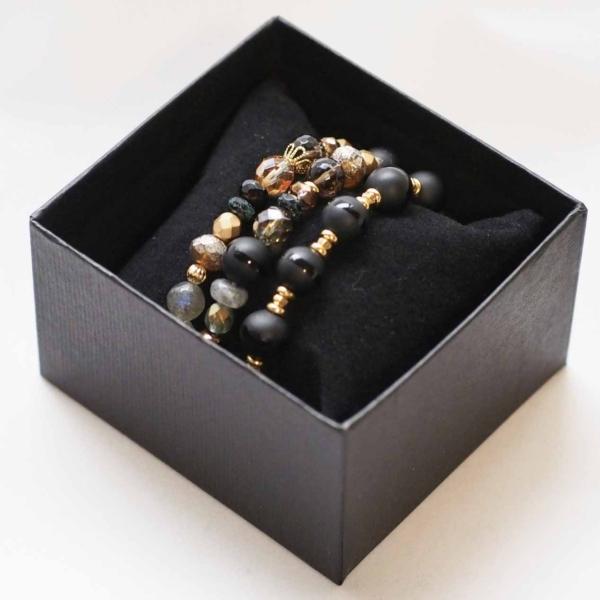 天然石ブレスレット Modern Gold
