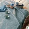 ガルニエ コーティング ブルー テーブルクロス