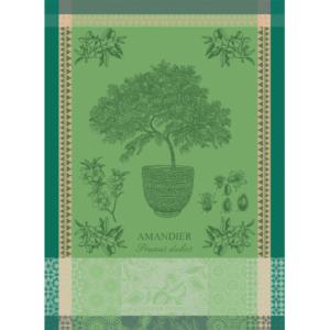 アーモンドの木 グリーン キッチンタオル