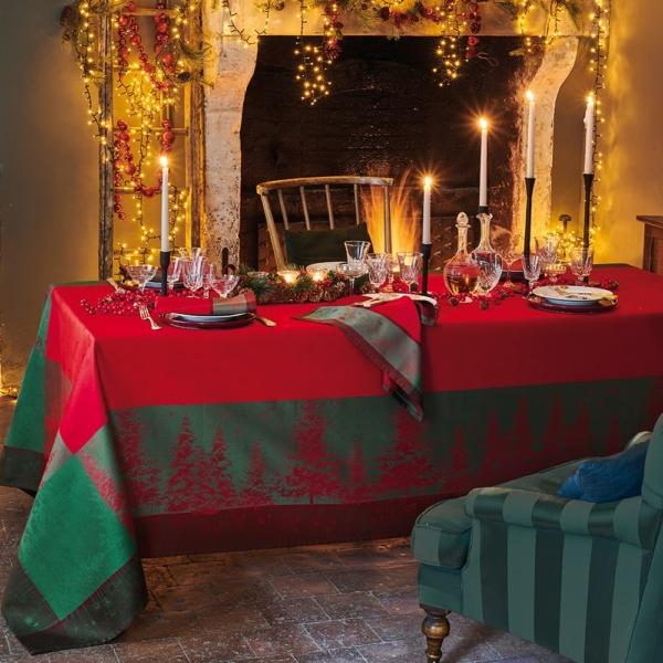 ガルニエ・ティエボー ノエルエトワール ルージュ クリスマス テーブルクロス